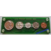 США специальный набор 1958 год P пруф Proof Франклин серебро