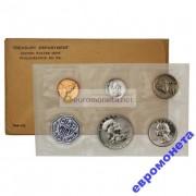 США набор 1958 год P Франклин серебро пруф