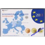 Германия годовой набор евро 2011 год D пластиковый бокс UNC АЦ
