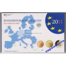 Германия годовой набор евро 2011 год J пластиковый бокс UNC АЦ