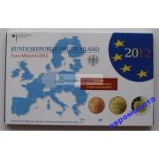 Германия годовой набор евро 2012 год G пластиковый бокс пруф