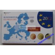 Германия годовой набор евро 2012 год F пластиковый бокс пруф