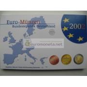 Германия годовой набор евро 2002 год G пластиковый бокс пруф