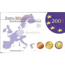 Германия годовой набор евро 2003 год J пластиковый бокс пруф
