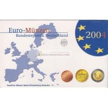 Германия годовой набор евро 2004 год G пластиковый бокс пруф