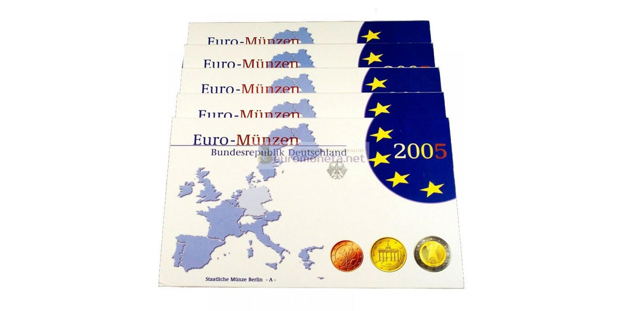 Германия годовой набор евро 2005 год G пластиковый бокс proof