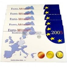 Германия годовой набор евро 2005 год D пластиковый бокс пруф
