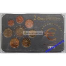 Австрия набор евро 2002 2004 2005 год АЦ UNC лимитированная серия 50 000 штук