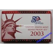 США полный годовой набор монет 2003 год S Сан-Франциско 10 монет пруф серебро