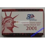 США полный годовой набор монет 2001 год S Сан-Франциско 11 монет пруф серебро