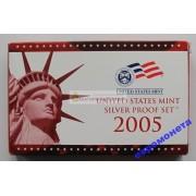 США полный годовой набор монет 2005 год S Сан-Франциско 11 монет пруф серебро