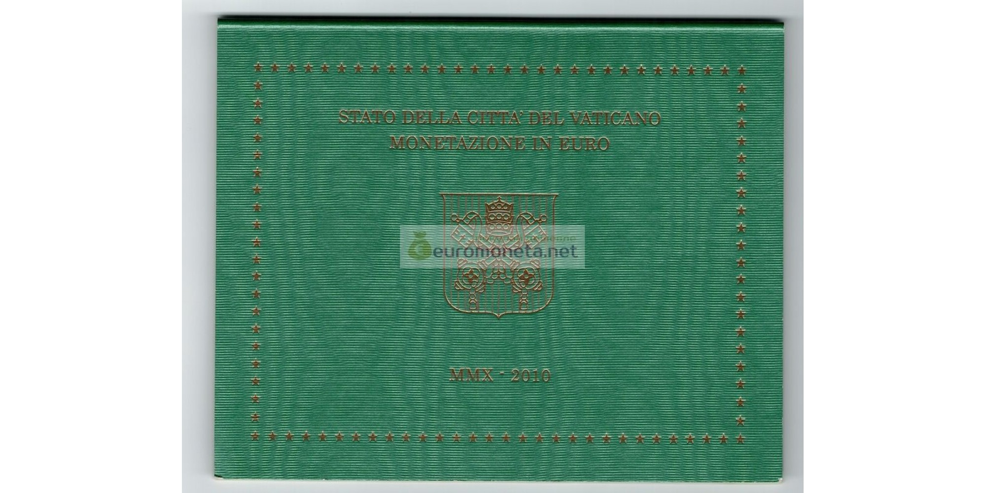 Ватикан годовой набор евро 2010 год 8 монет АЦ Бенедикт XVI
