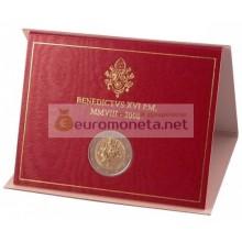 Ватикан 2 евро 2008 год Год Святого апостола Павла в буклете АЦ Бенедикт XVI