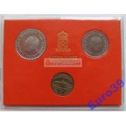 Нидерланды набор монет 1980 год 2 монеты и жетон
