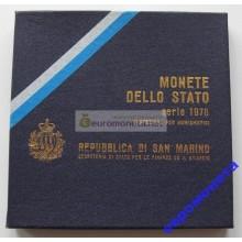 Сан-Марино набор монет 1978 год 9 монет включая 500 лир серебро АЦ