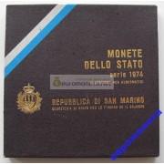 Сан-Марино набор монет 1974 год 8 монет включая 500 лир серебро АЦ
