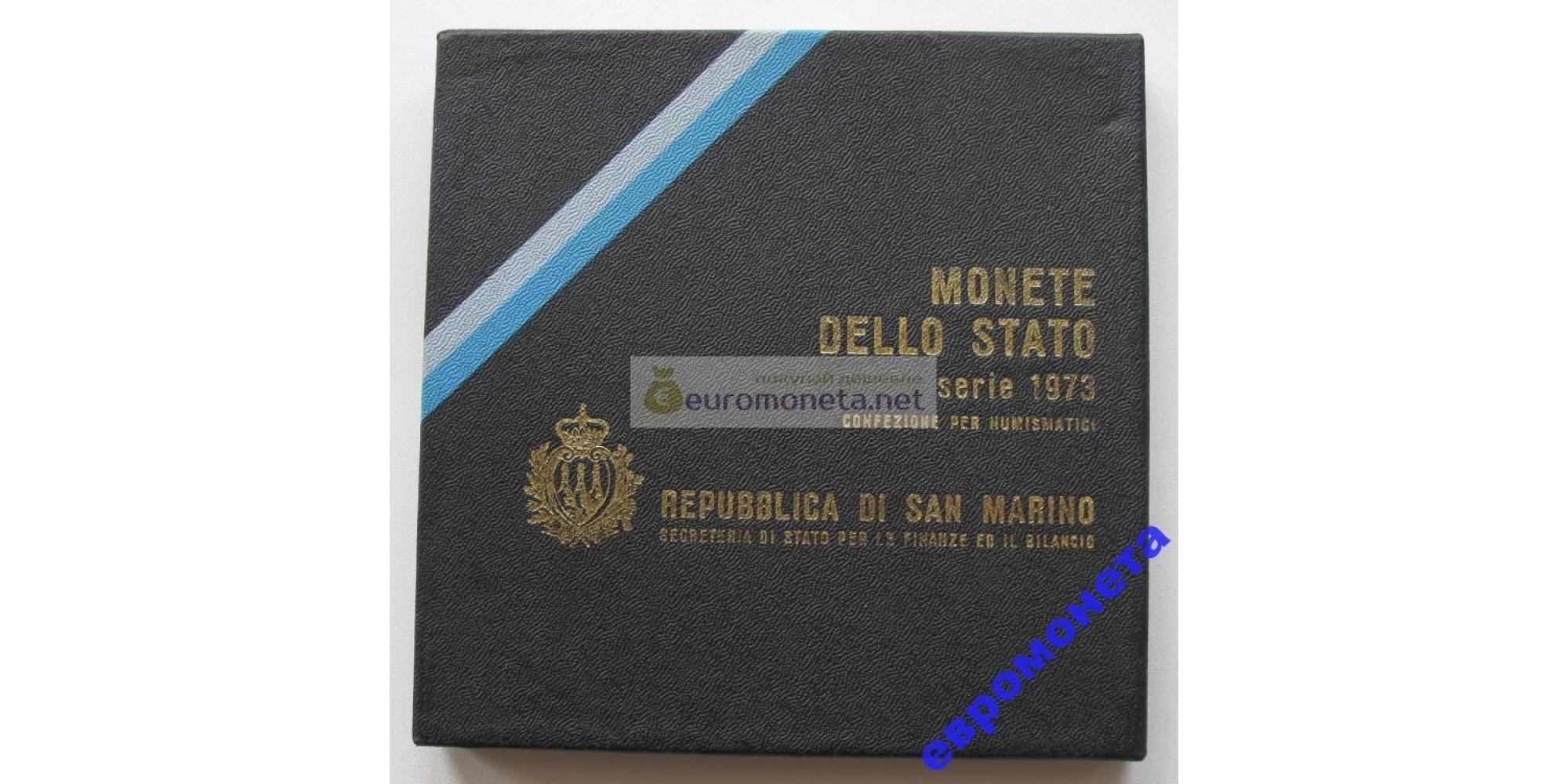 Сан-Марино набор монет 1973 год 8 монет включая 500 лир серебро UNC