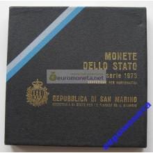 Сан-Марино набор монет 1973 год 8 монет включая 500 лир серебро АЦ