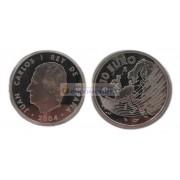 Испания 10 евро 2004 год. Расширение ЕС. Серебро