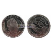 Испания 10 евро 2005 год. 60 лет миру и свободе в Европе