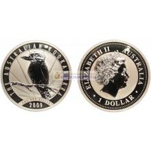 Австралия 1 доллар 2009 год Австралийская Кукабарра. Серебро. Пруф