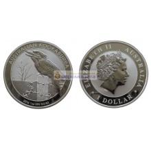 Австралия 1 доллар 2016 год Австралийская Кукабарра. Серебро. Пруф