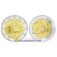 Люксембург 2 евро 2007 год Римский договор, биметалл АЦ из ролла