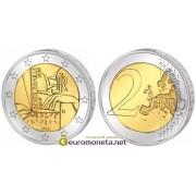 Италия 2 евро 2009 год UNC 200 лет с рождения Луи Брайля, биметалл