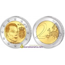 Люксембург 2 евро 2010 год Герб Великого герцога Люксембурга, биметалл АЦ из ролла