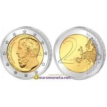 Греция 2 евро 2013 год 2400 лет с основания Платоновской Академии, биметалл АЦ из банковского ролла