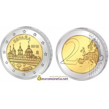 Испания 2 евро 2013 год Монастырь Эскориал, биметалл