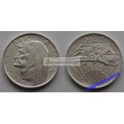 Италия 500 лир 1965 год R серебро год Данте Алигьери