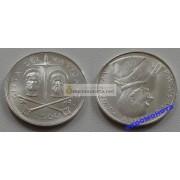 Ватикан 500 лир 1967 серебро Петр и Павел