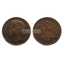 """Германская империя Бавария 10 марок 1911 год """"D"""" Отто I. Золото"""