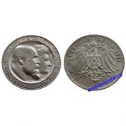Германия Королевство Вюртемберг 3 марки 1911 год F серебро