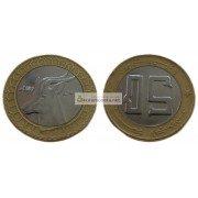 Алжир 50 динаров 2009 год биметалл. Газель