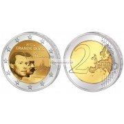 Люксембург 2 евро 2012 год 100 лет со дня смерти Великого Герцога Люксембурга Вильгельма IV, биметалл АЦ из ролла