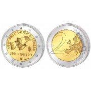 Италия 2 евро 2011 год. 150-летие объединения Италии. АЦ из ролла