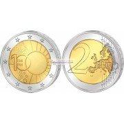 Бельгия 2 евро 2013 год 100 лет Королевскому метеорологическому институту Бельгии, биметалл АЦ из ролла