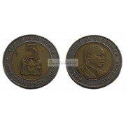 Кения 5 шиллингов 1997 год