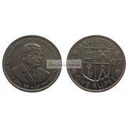 Маврикий 1 рупия 2007 год