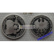 ФРГ 10 марок 1992 год D серебро 150 лет ордену Pour-le-Merite за заслуги в науке и искусстве запайка пруф