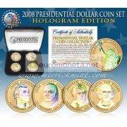 США 2008 $1 доллар Президенты голограмма набор из всех 4 монет