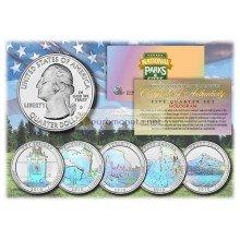 США 2010 квотер 25 центов голограмма национальные парки Америки набор из 5 монет