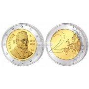 Италия 2 евро 2010 год UNC 200 лет со дня рождения Камилло Кавура, биметалл. АЦ