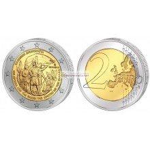 Греция 2 евро 2013 год 100 лет Воссоединение с Критом, биметалл АЦ из банковского ролла