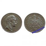 Германия Пруссия 3 марки 1908 год A монета на фотографии серебро