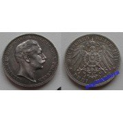 Германия Пруссия 3 марки 1910 год A монета на фотографии серебро