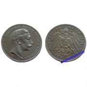 Германия Пруссия 3 марки 1911 год A монета на фотографии серебро