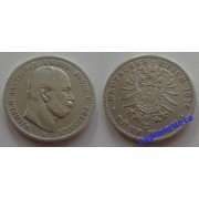Германия Пруссия 5 марок 1876 год B монета на фотографии серебро